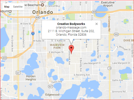 aps for Creative Bodyworks & Orlando Massagee at 2111 E. Michigan Street, Suite 202, Orlando, Florida 32806